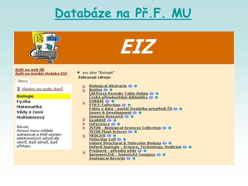 Databáze na Př.F. MU DDDDDDDDDDDDDDDD