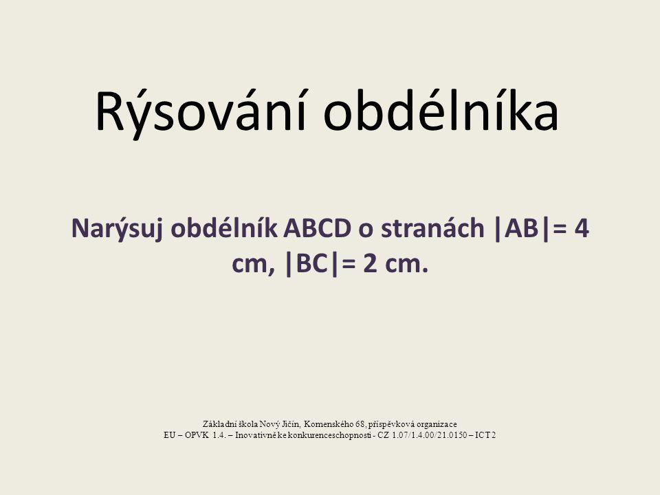 Náčrt D C.. A 4 cm B