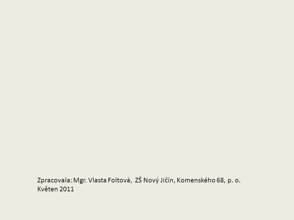 Zpracovala: Mgr. Vlasta Foltová, ZŠ Nový Jičín, Komenského 68, p. o. Květen 2011