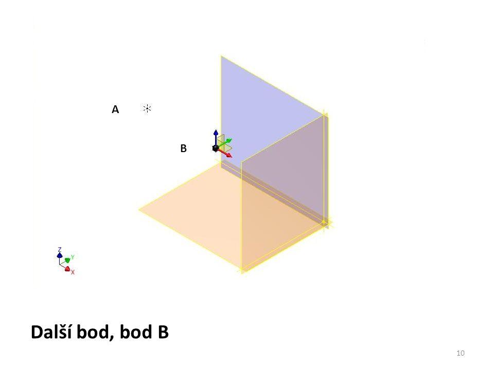 A B Další bod, bod B 10