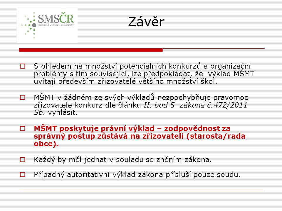 Legislativa - výběr Metodická pomoc Mgr.