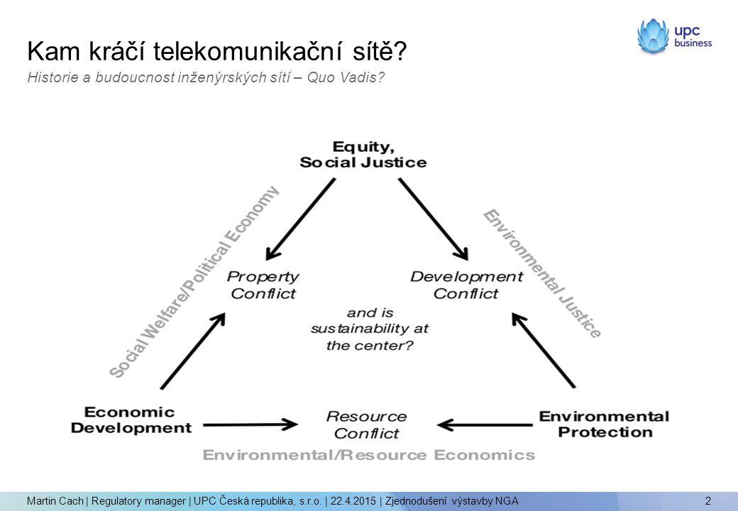 Kam kráčí telekomunikační sítě. 2 Martin Cach | Regulatory manager | UPC Česká republika, s.r.o.