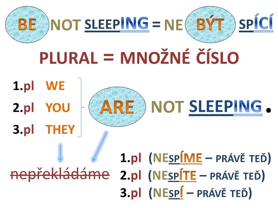 NOT WE THEY YOU2.pl nepřekládáme 1.pl 3.pl 1.pl 3.pl 2.pl PLURAL = MNOŽNÉ ČÍSLO. = NOTNE