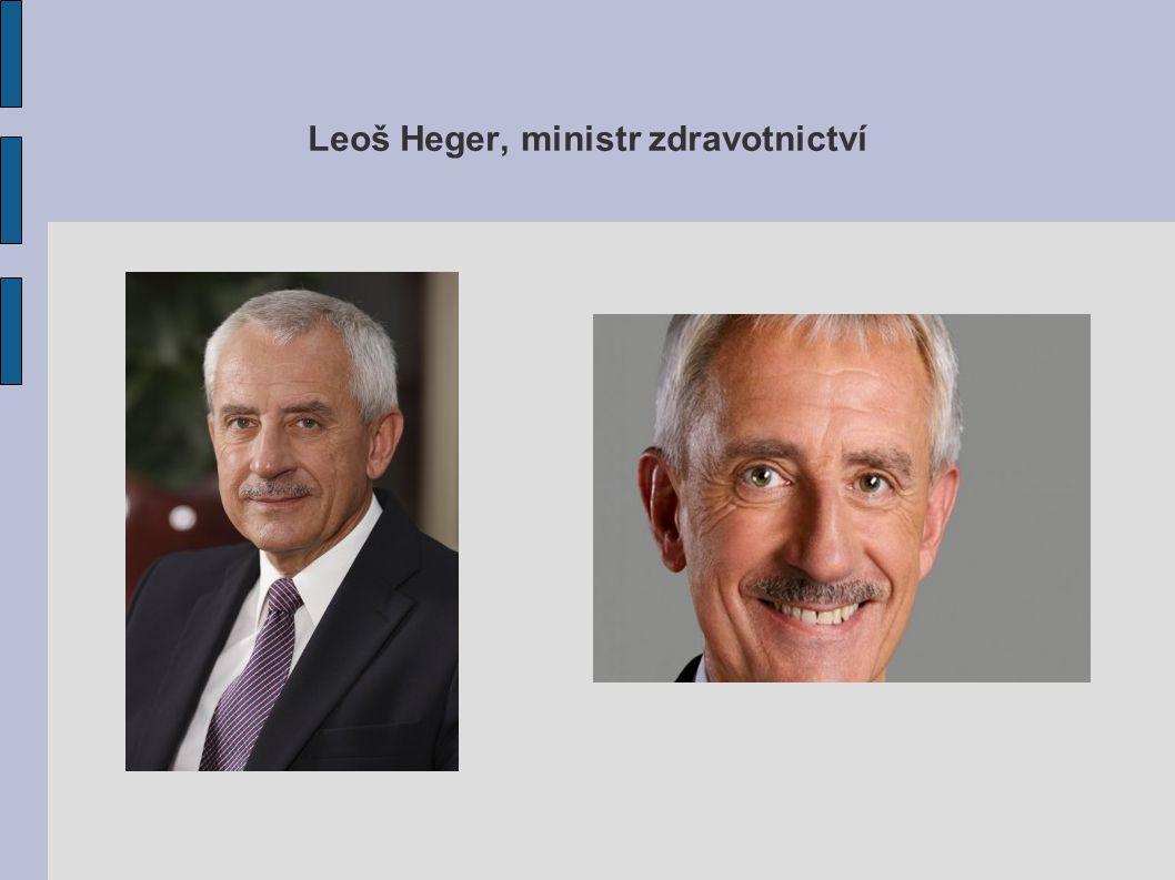 Leoš Heger, ministr zdravotnictví