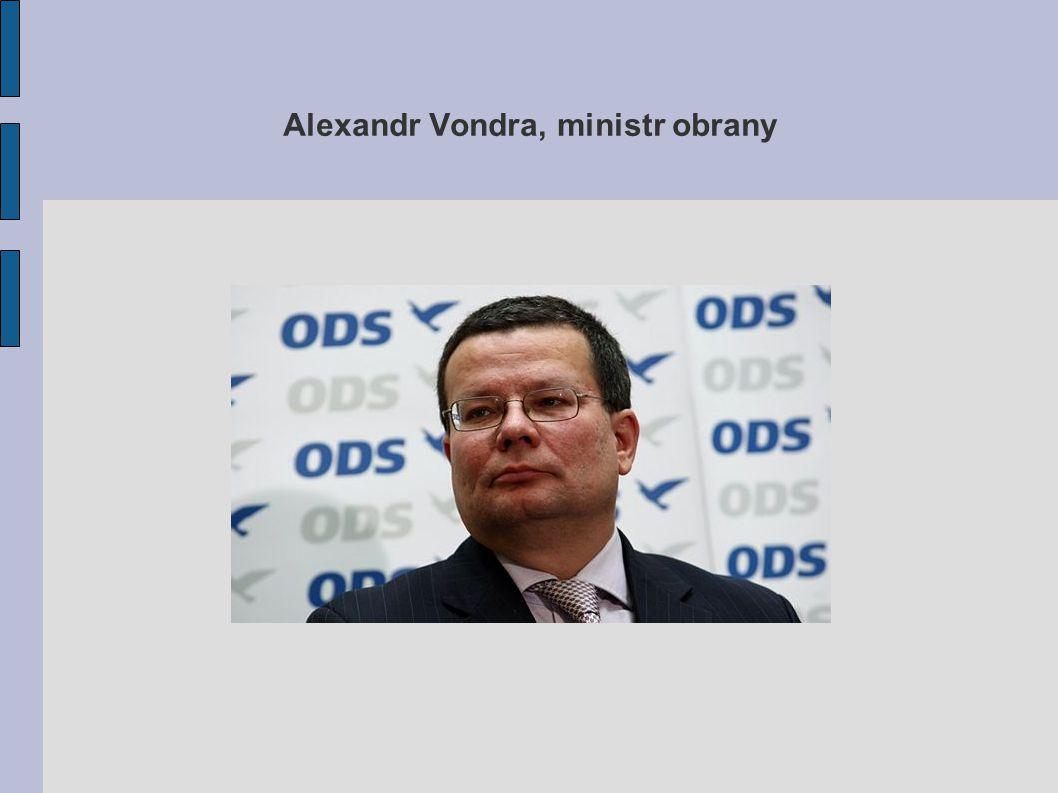 Alexandr Vondra, ministr obrany