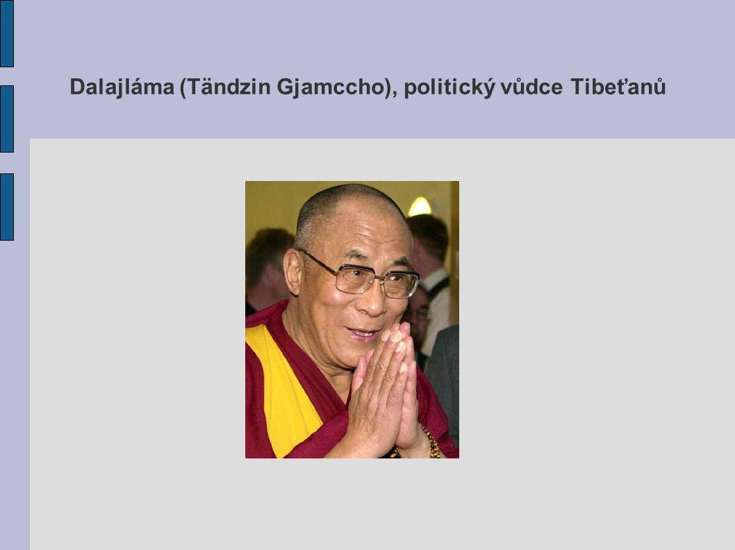 Dalajláma (Tändzin Gjamccho), politický vůdce Tibeťanů