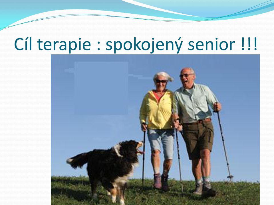 Cíl terapie : spokojený senior !!!