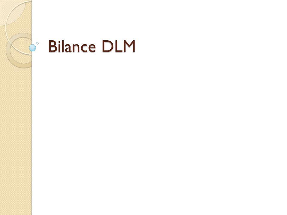 Bilance DLM
