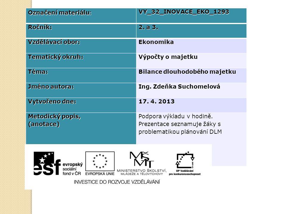 Označení materiálu : VY_32_INOVACE_EKO_1293Ročník: 2.