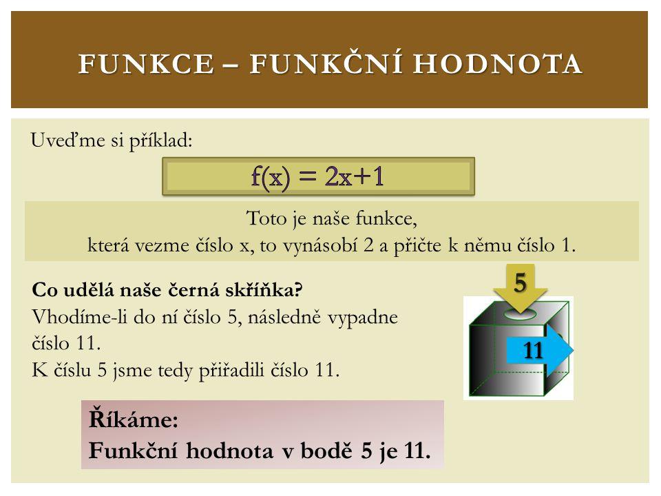 FUNKCE – FUNKČNÍ HODNOTA Říkáme: Funkční hodnota v bodě 3 je 4.