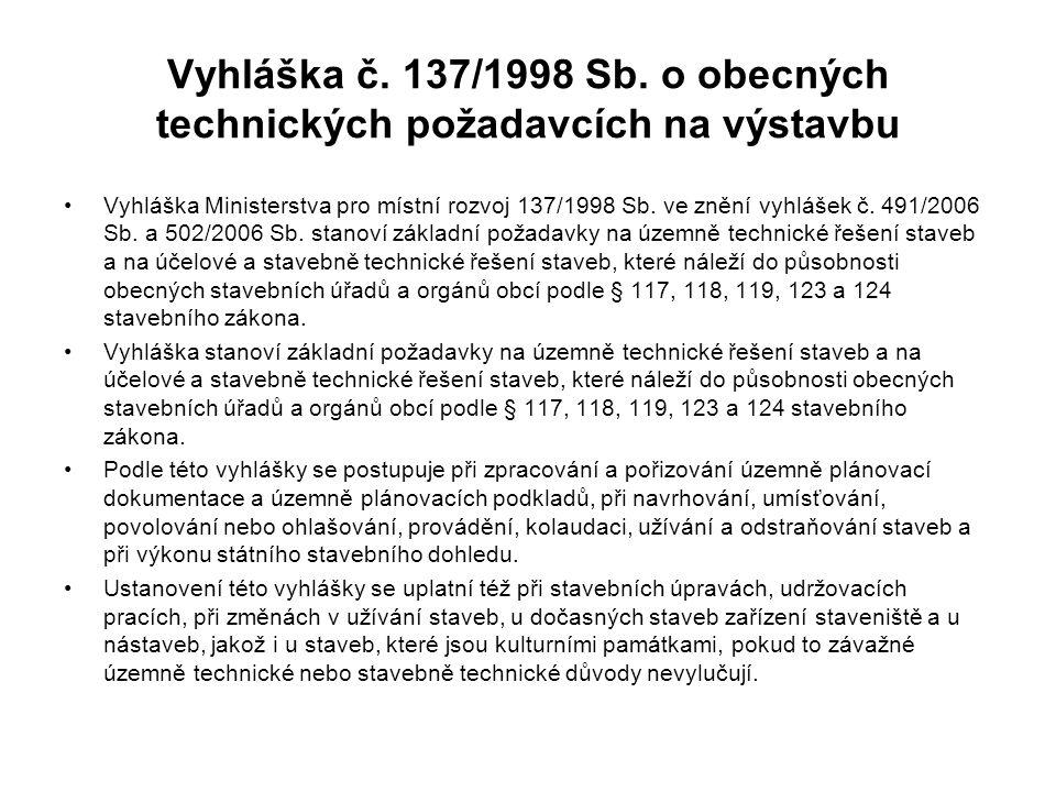 Vyhláška č.137/1998 Sb.