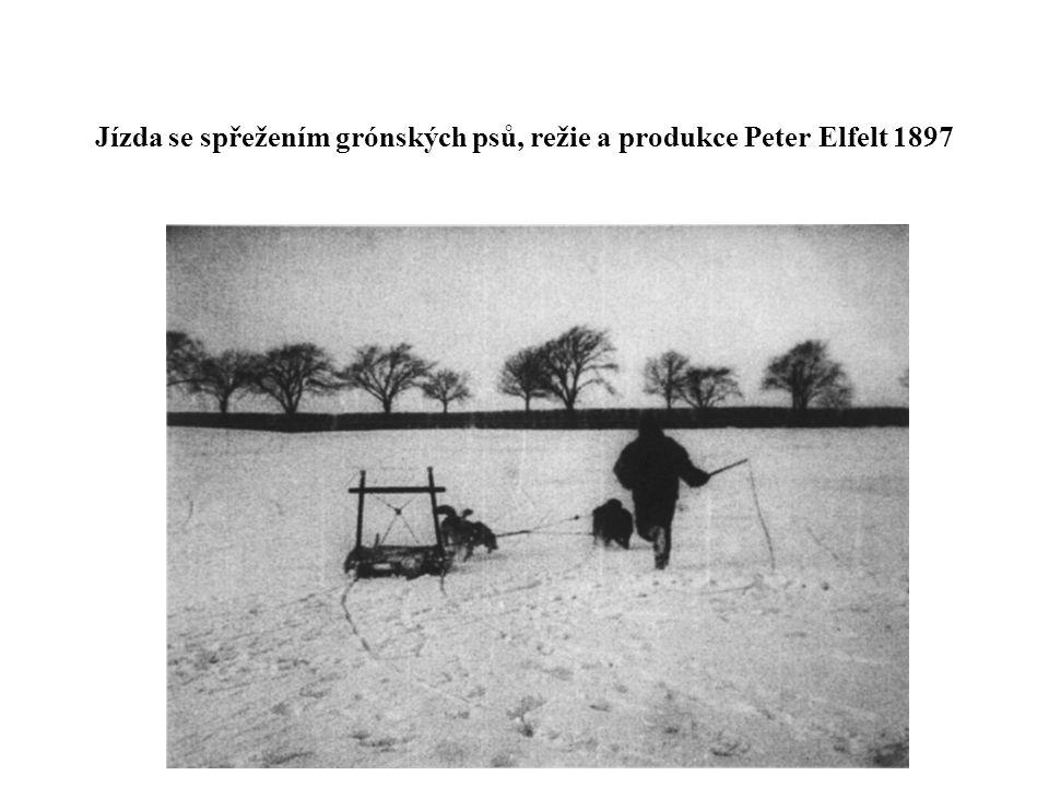 Jízda se spřežením grónských psů, režie a produkce Peter Elfelt 1897