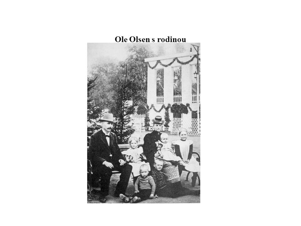 Ole Olsen s rodinou