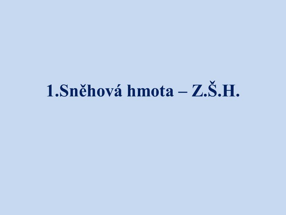 1.Sněhová hmota – Z.Š.H.