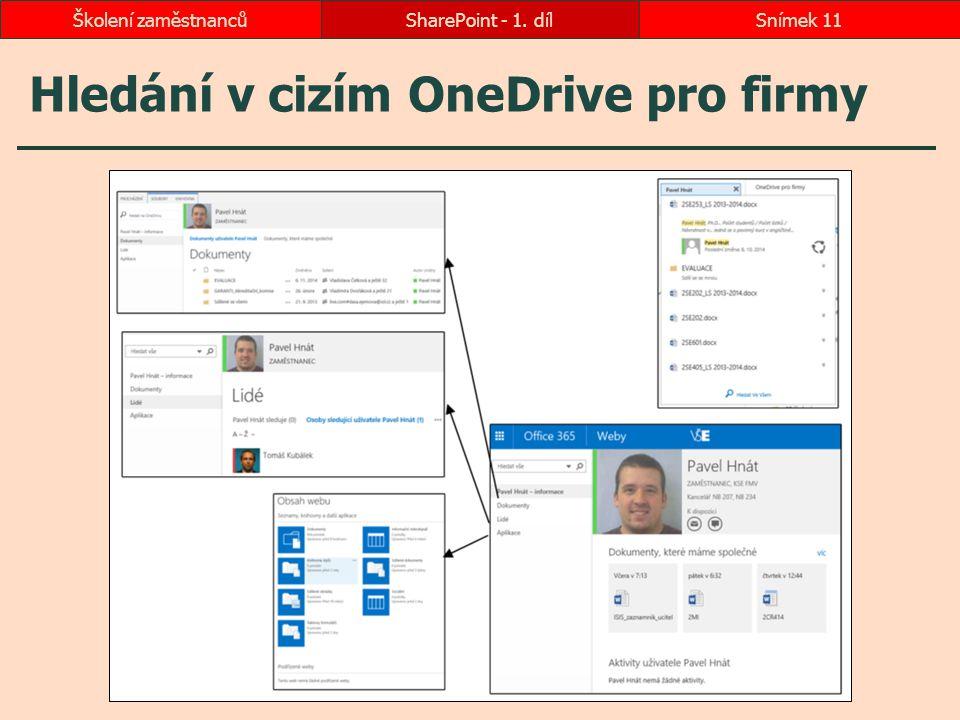 Hledání v cizím OneDrive pro firmy SharePoint - 1. dílSnímek 11Školení zaměstnanců