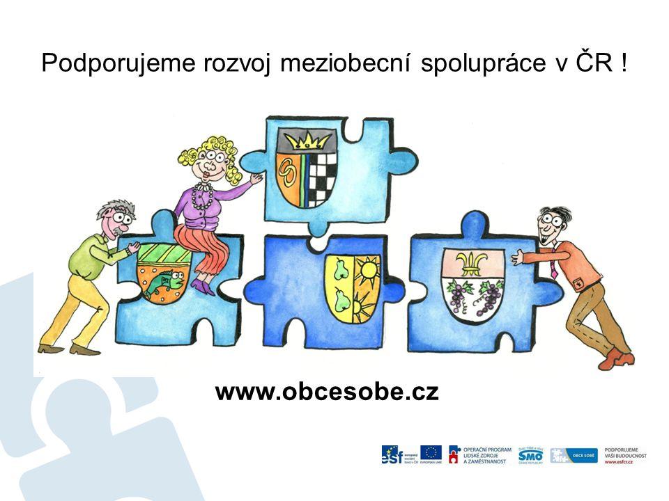 Podporujeme rozvoj meziobecní spolupráce v ČR ! www.obcesobe.cz