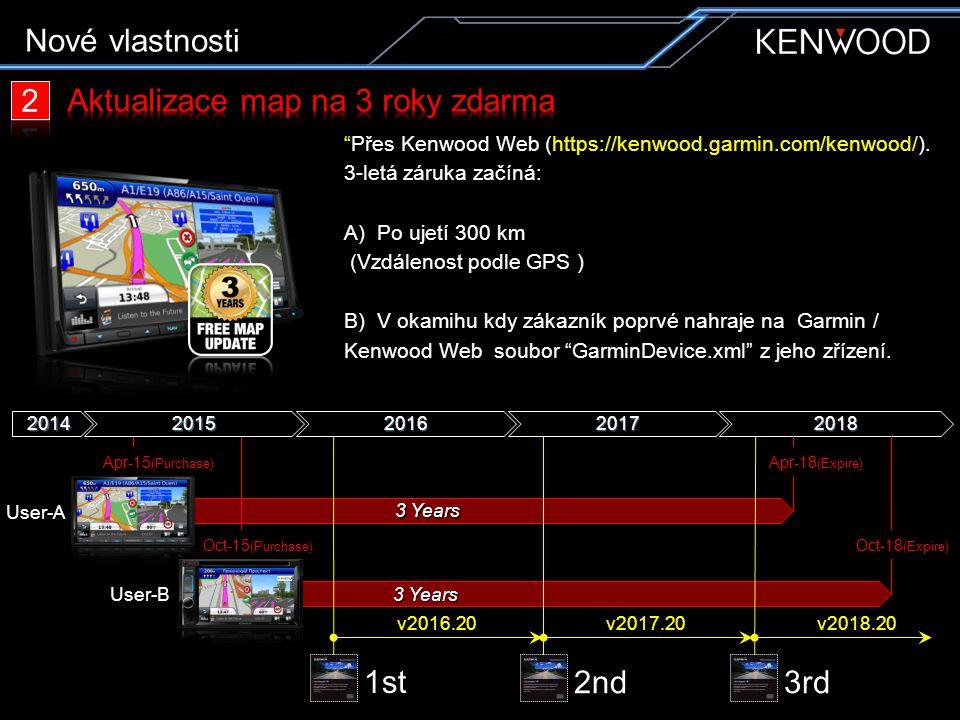 """""""Přes Kenwood Web (https://kenwood.garmin.com/kenwood/). 3-letá záruka začíná: A) Po ujetí 300 km (Vzdálenost podle GPS ) B) V okamihu kdy zákazník po"""