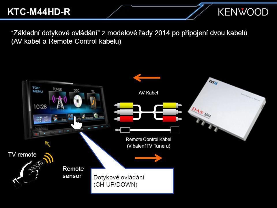 Základní dotykové ovládání z modelové řady 2014 po připojení dvou kabelů.