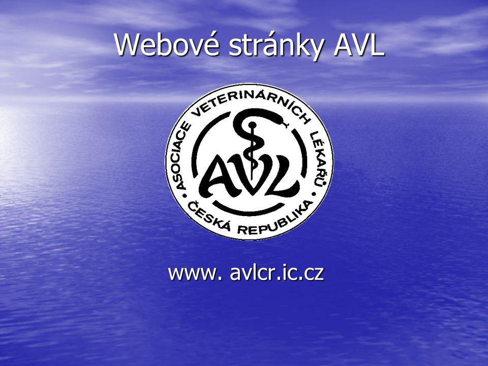 Webové stránky AVL Webové stránky AVL www. avlcr.ic.cz www. avlcr.ic.cz