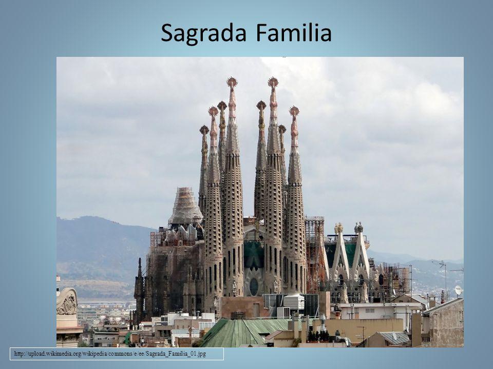 Barelona Antonio Gaudí Kostel zasvěcený sv.