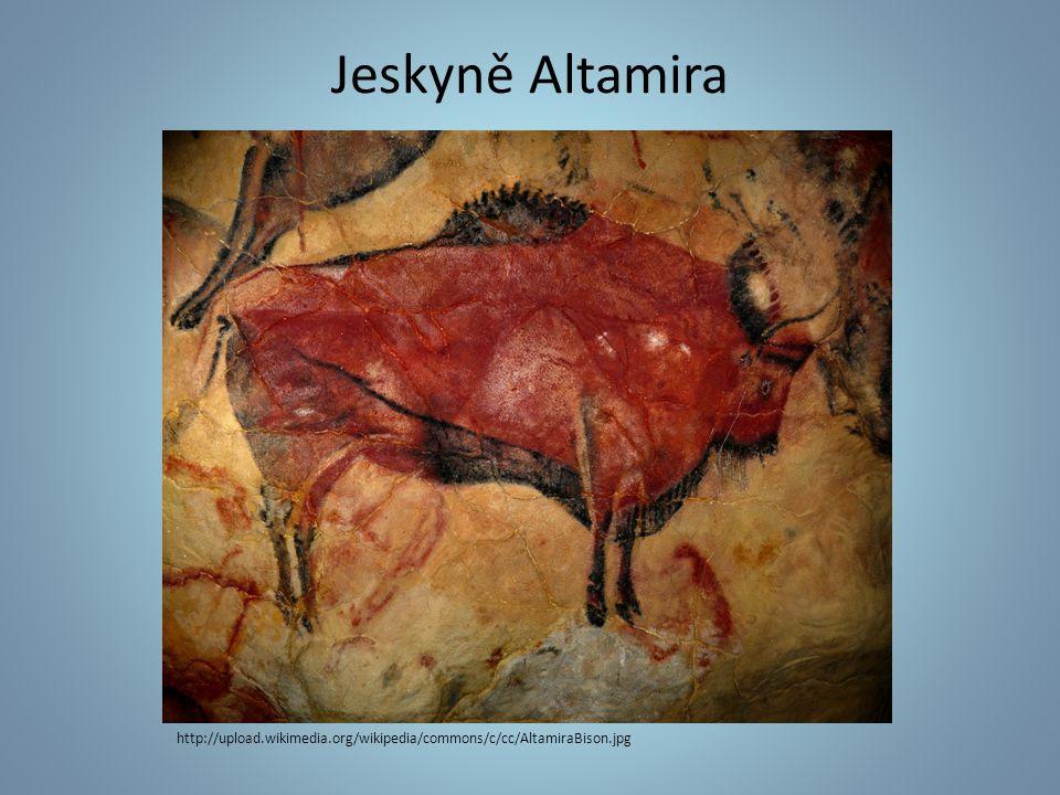 Severní Španělsko UNESCO Pravěké malby (paleolit) Motivy zvířat Regulovaný vstup http://cs.wikipedia.org/wiki/Altamira
