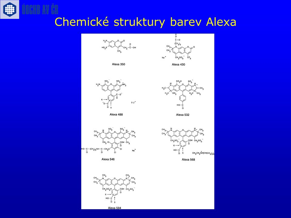 Chemické struktury barev Alexa