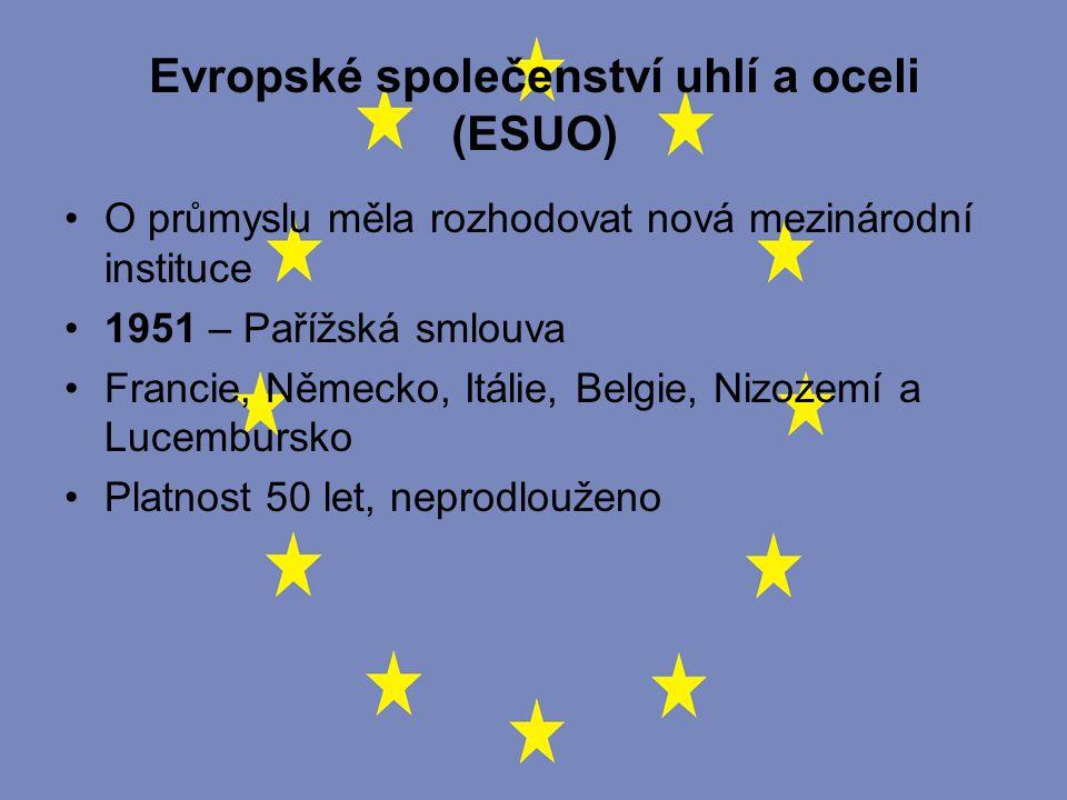Evropské sdružení volného obchodu (ESVO) VB - obava o ztrátu části suverenity + Dánsko, Švédsko, Norsko, Švýcarsko, Rakousko, Portugalsko a Finsko Od r.