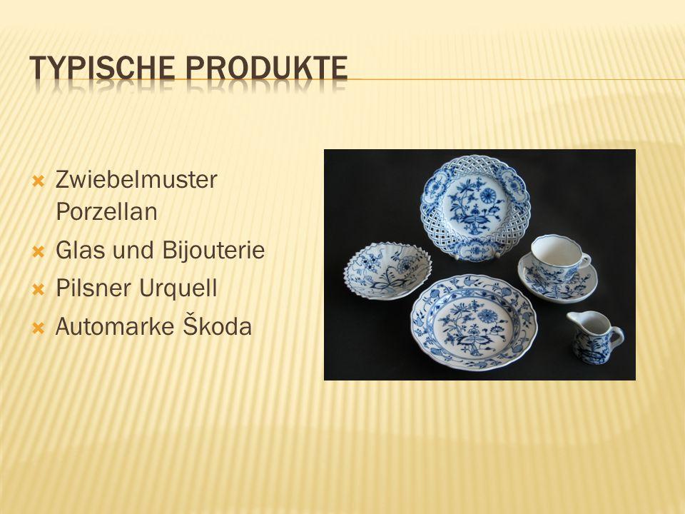  Zwiebelmuster Porzellan  Glas und Bijouterie  Pilsner Urquell  Automarke Škoda