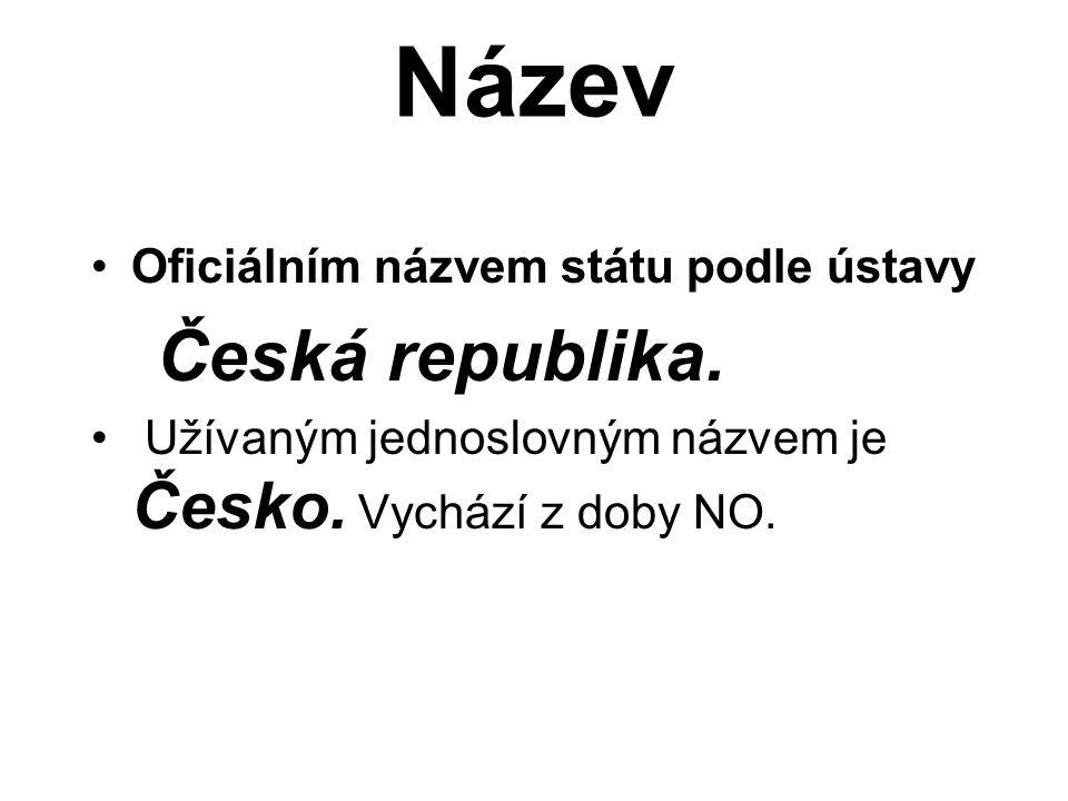 Název Oficiálním názvem státu podle ústavy Česká republika. Užívaným jednoslovným názvem je Česko. Vychází z doby NO.