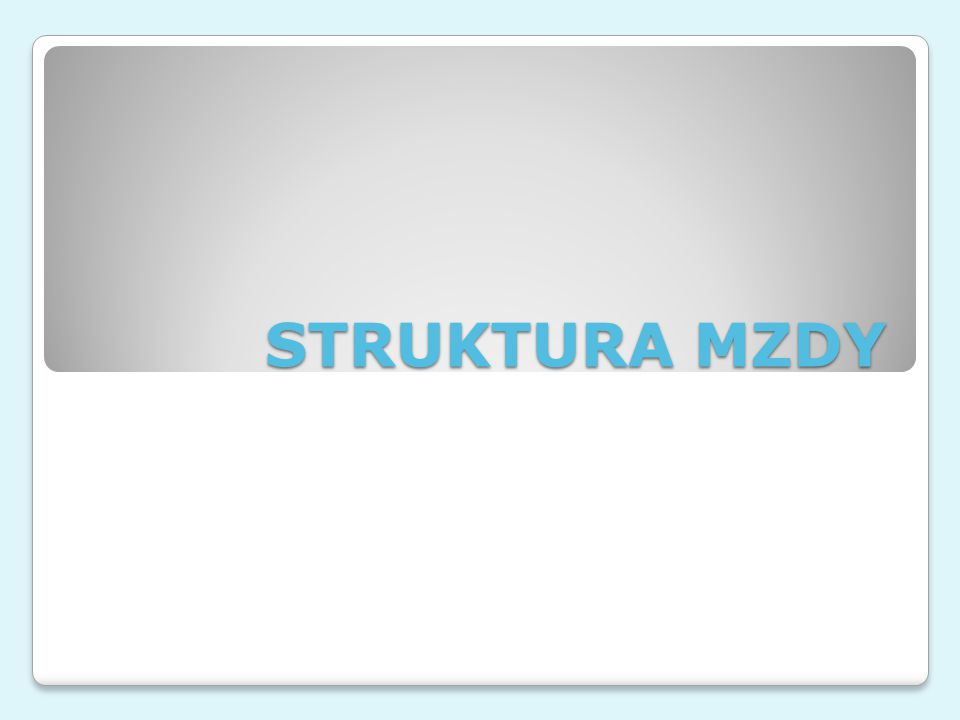 STRUKTURA MZDY