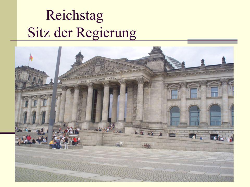 Reichstag Sitz der Regierung