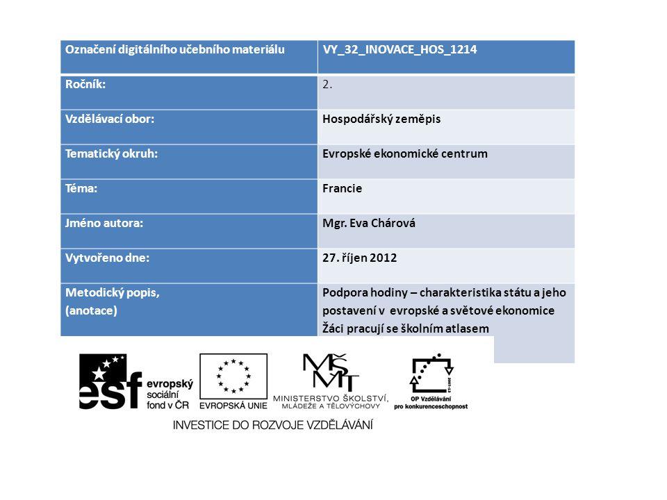 Označení digitálního učebního materiáluVY_32_INOVACE_HOS_1214 Ročník:2.