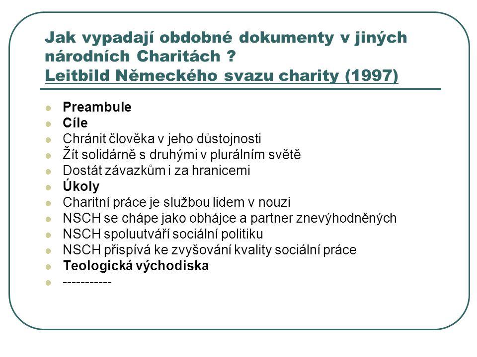 Jak vypadají obdobné dokumenty v jiných národních Charitách .