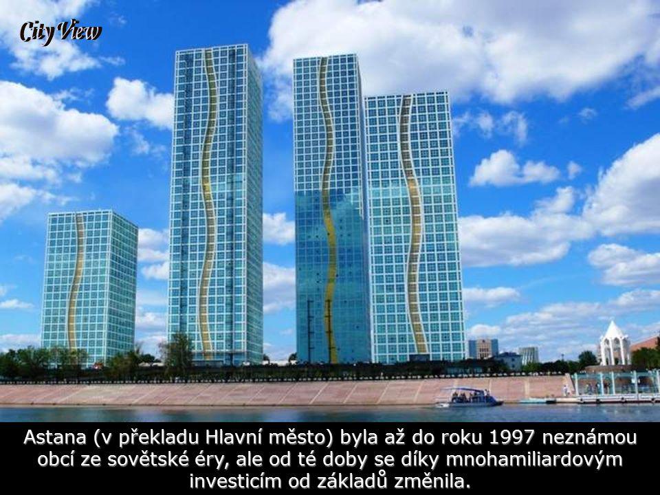 Pohled na město Autory většiny nových staveb jsou světově uznávaní architekti, např. Norman Foster.