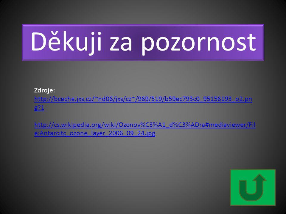 Děkuji za pozornost Zdroje: http://bcache.jxs.cz/~nd06/jxs/cz~/969/519/b59ec793c0_95156193_o2.pn g?1 http://cs.wikipedia.org/wiki/Ozonov%C3%A1_d%C3%AD