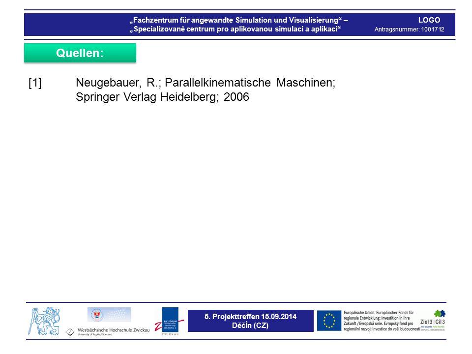 """5. Projekttreffen 15.09.2014 Děčĺn (CZ) """"Fachzentrum für angewandte Simulation und Visualisierung"""" – LOGO """"Specializované centrum pro aplikovanou simu"""
