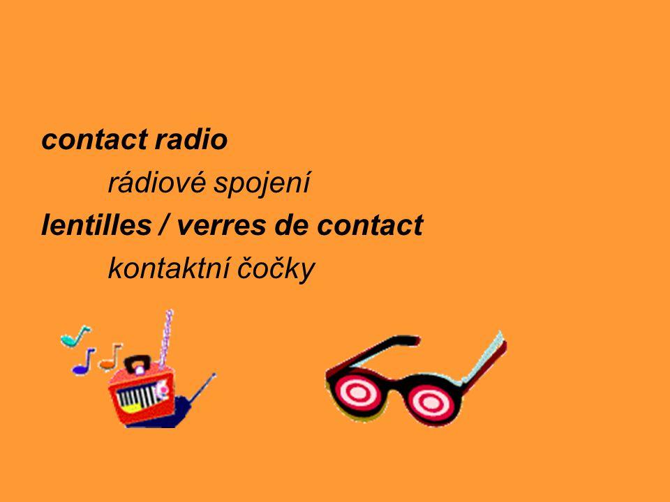 contact radio rádiové spojení lentilles / verres de contact kontaktní čočky