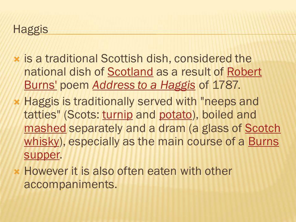 Haggis on a platter at a Burns supperBurns supper