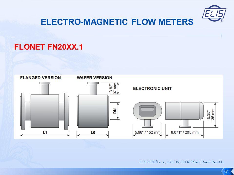 FLONET FF10XX.1 8 ELIS PLZEŇ a. s., Luční 15, 301 64 Plzeň, Czech Republic