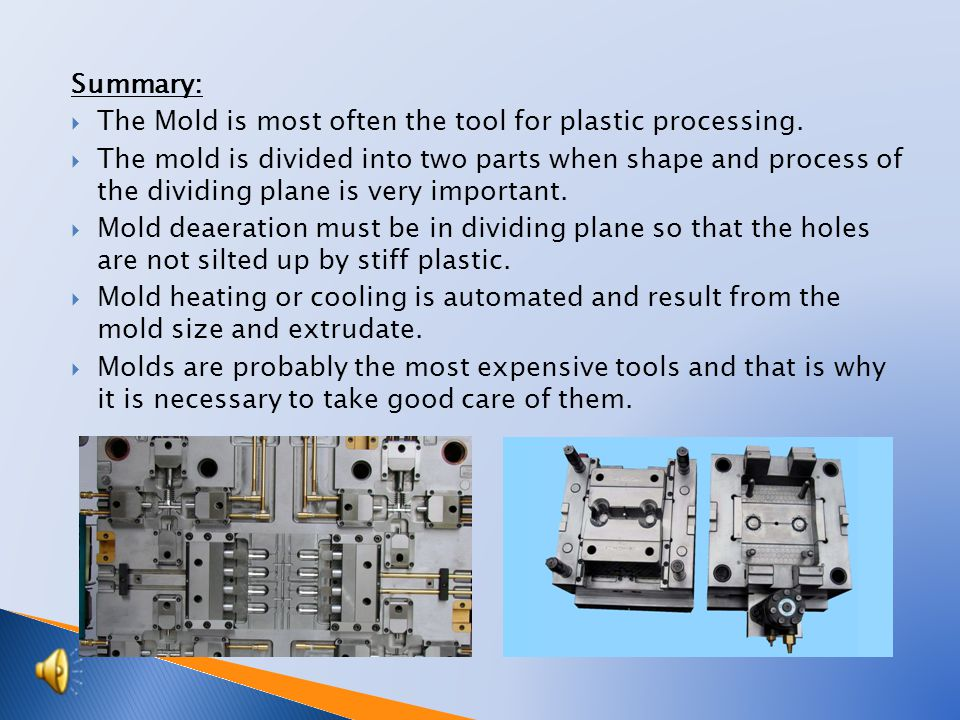 Mold material for plastic.