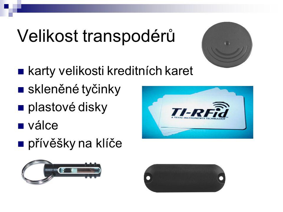 Velikost transpodérů karty velikosti kreditních karet skleněné tyčinky plastové disky válce přívěšky na klíče