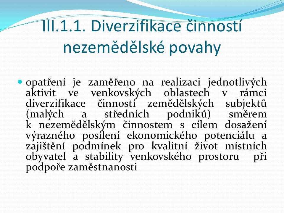 Záměry:  studie a programy obnovy, využití a regenerace kulturního dědictví venkova  obnova a zhodnocování kulturního dědictví venkova  stálé výstavní expozice a muzea III.2.2.