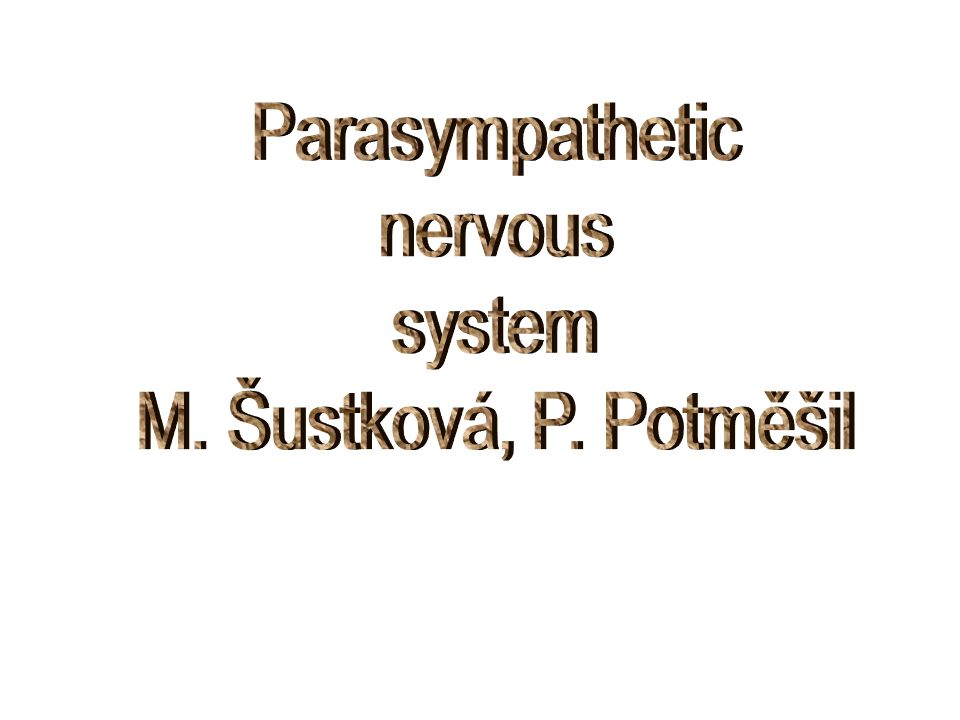 Indications of indirect parasympathetics Postoperative and neurogenic illeus, urine retention (neostigmine) Glaucoma (physostigmine) Myasthenia gravis – neostigmine, pyridostigmine, edrophonium For termination of pachycuraric substances effect on the neuromuscular junction (non- depolarising peripheral muscle relaxant effect termination, antidotum) Alzheimer´s diseases (demention, degeneration of cerebral cholinergic neurons) –rivastigmine, donezepil – predominantly central effect
