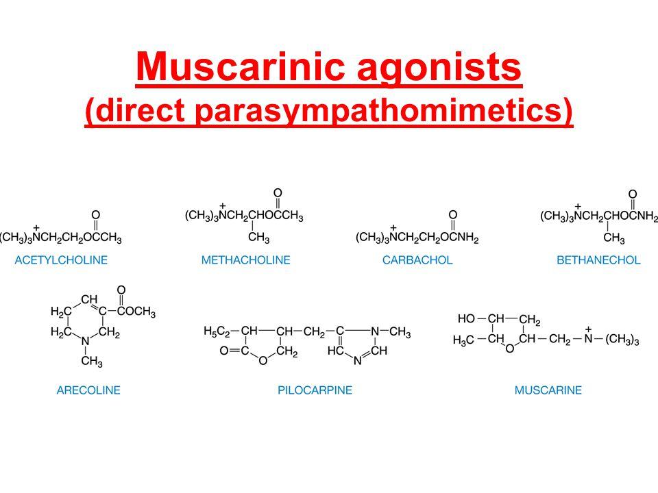 Muscarinic agonists (direct parasympathomimetics)