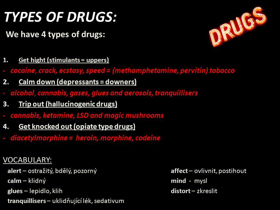 Stimulants = Uppers Cocaine, Crack – (snow), illegal drugs !!.