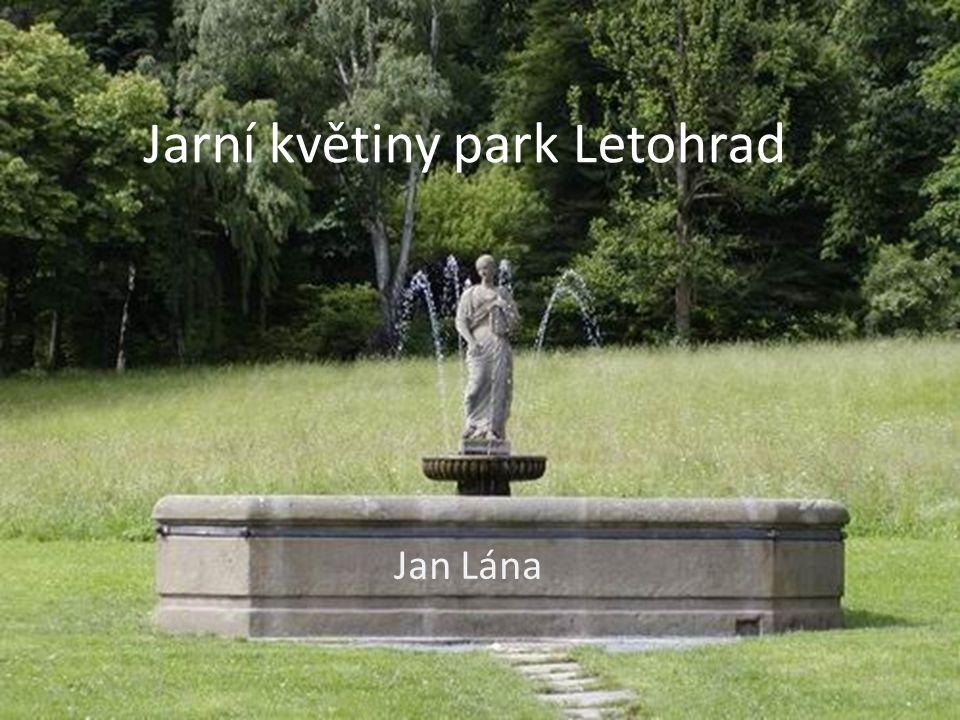 Jarní květiny park Letohrad Jan Lána