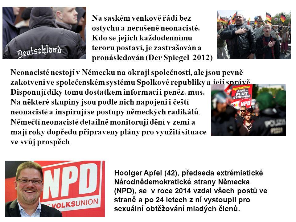 Na saském venkově řádí bez ostychu a nerušeně neonacisté. Kdo se jejich každodennímu teroru postaví, je zastrašován a pronásledován (Der Spiegel 2012)