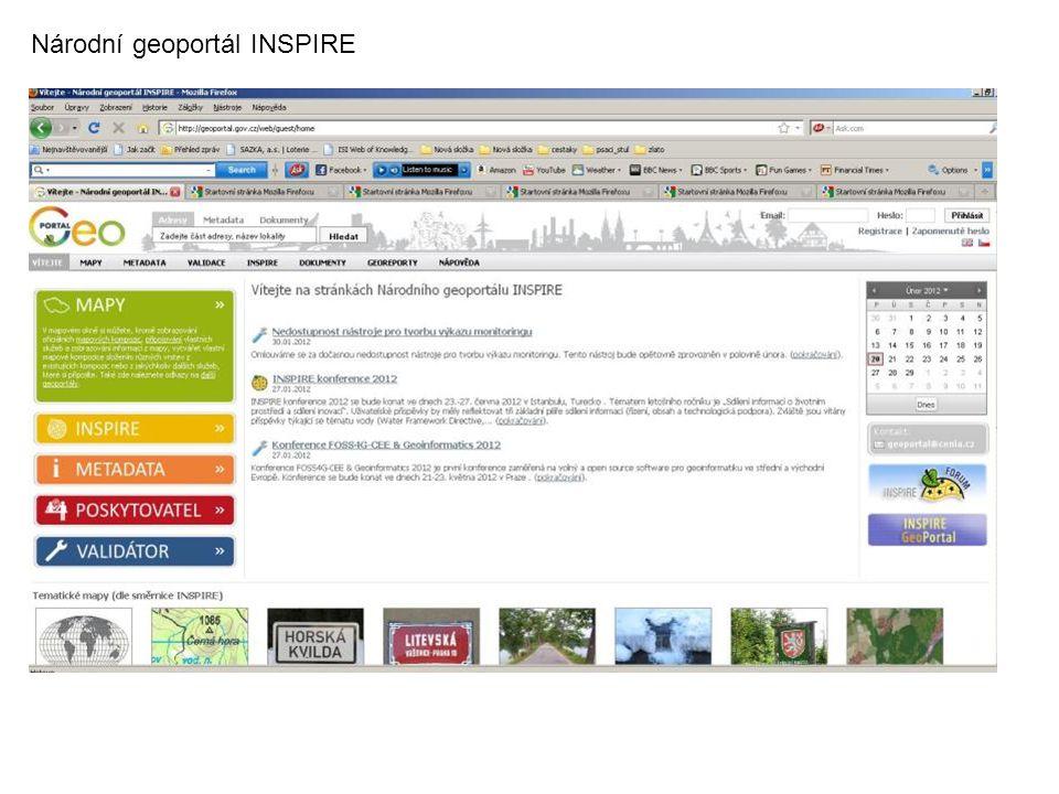Národní geoportál INSPIRE