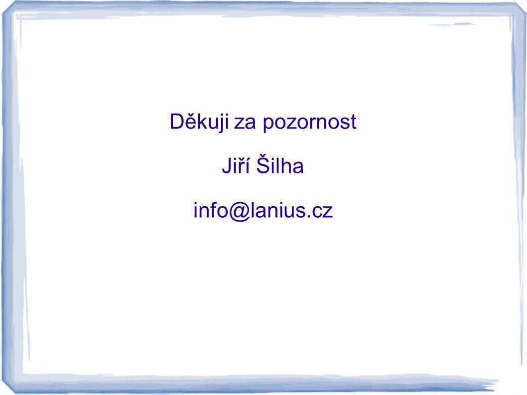 Děkuji za pozornost Jiří Šilha info@lanius.cz