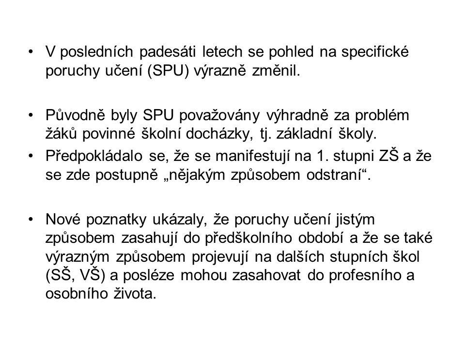 Deficity dílčích funkcí (B.Sindelar) - diagnostická a nápravná metodika .